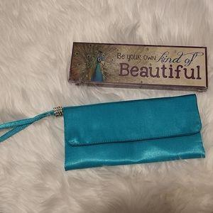 Sasha New York Turquoise Evening Bag